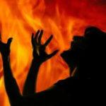 woman burnt alive