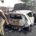 Road accident in Etah
