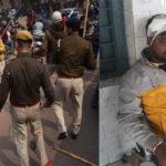 police lathi charge